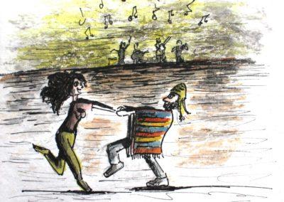 Perou - Danse au lac Titicaca